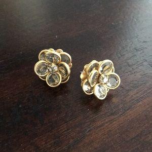 Jeweled flower studs